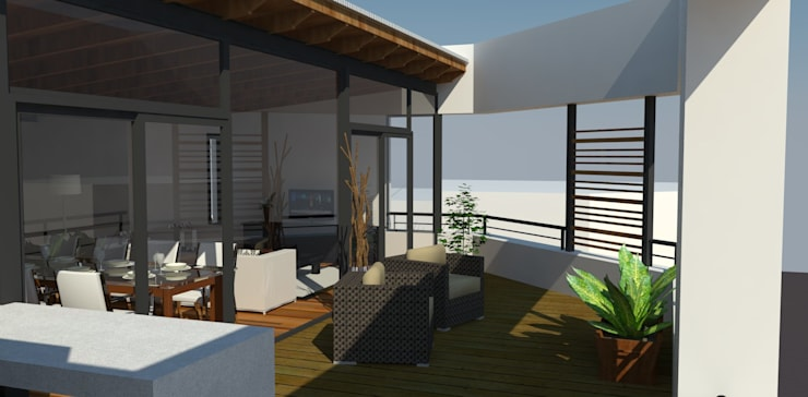 Terraza: Jardines de estilo  por UFV 72 Arquitectura Integral,