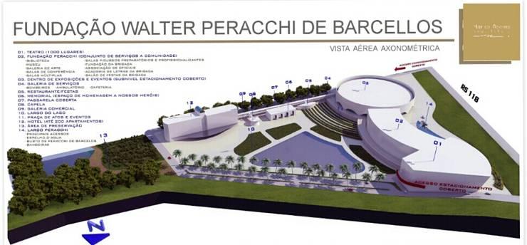 Centro Cultural Walter Peracchi de  Barcellos: Centros de exposições  por Marisol Réquia Arquitetura,Moderno