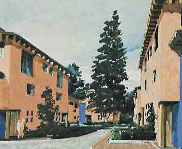 Villas de los Cedros: Casas de estilo  por Boué Arquitectos