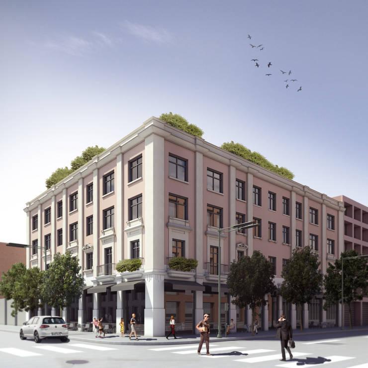 Articulo 123 - Boué Arquitectos : Balcones y terrazas de estilo  por Boué Arquitectos