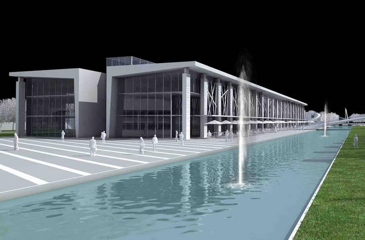 Zocalo Tijuana- Boué Arquitectos : Pasillos y recibidores de estilo  por Boué Arquitectos