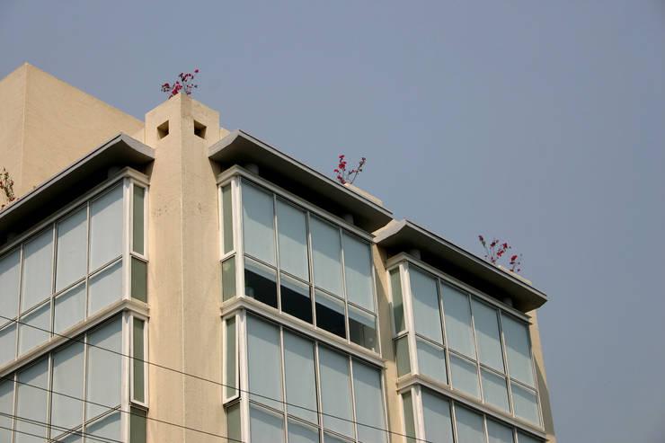 Sinaloa 107- Boué Arquitectos : Terrazas de estilo  por Boué Arquitectos