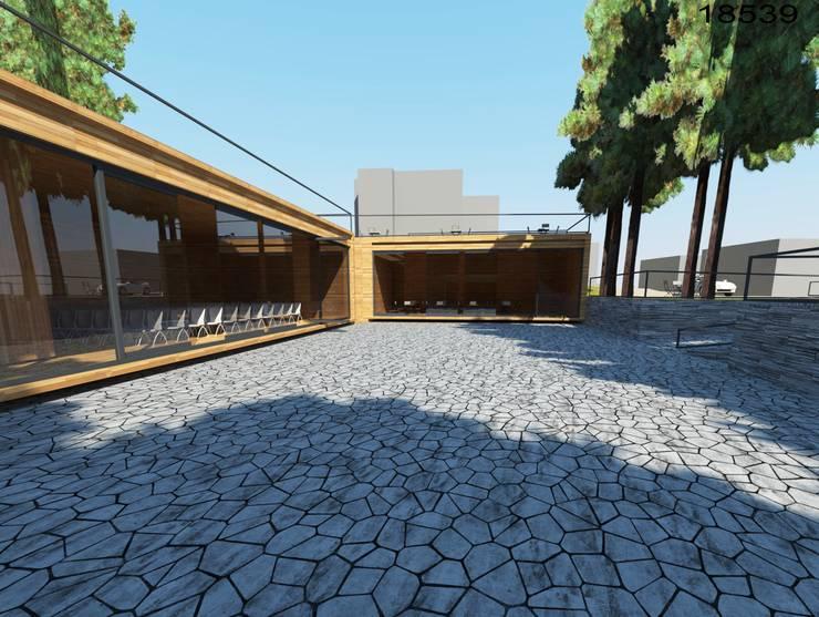 SELIM SENIN –  Erbaa Çamlık Sosyal Habitatı :  tarz Oteller, Modern Ahşap Ahşap rengi