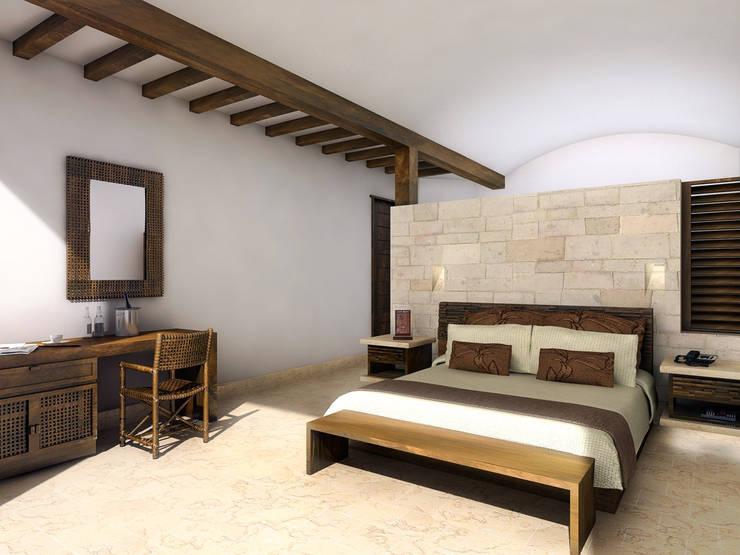 Quinta Real Acapulco- Boué Arquitectos : Hoteles de estilo  por Boué Arquitectos