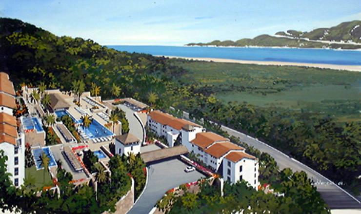 Vista Real Acapulco- Boué Arquitectos : Hoteles de estilo  por Boué Arquitectos