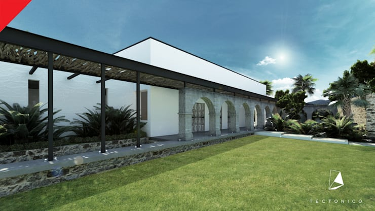Casa de Campo Tempoal : Casas de estilo  por Tectónico