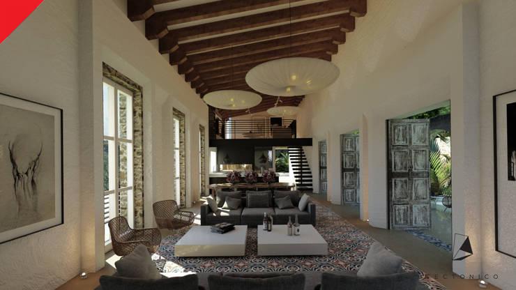 Casa de Campo Tempoal : Comedores de estilo  por Tectónico