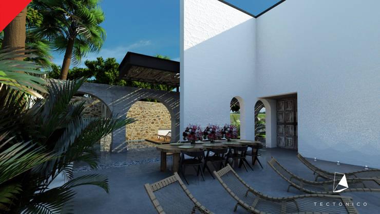 Casa de Campo Tempoal : Terrazas de estilo  por Tectónico