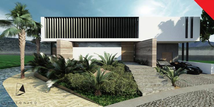 Casa de Campo Querétaro: Casas de estilo  por Tectónico