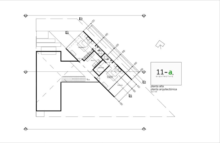 Plano Arquitectónico Planta Alta:  de estilo  por VIVAinteriores