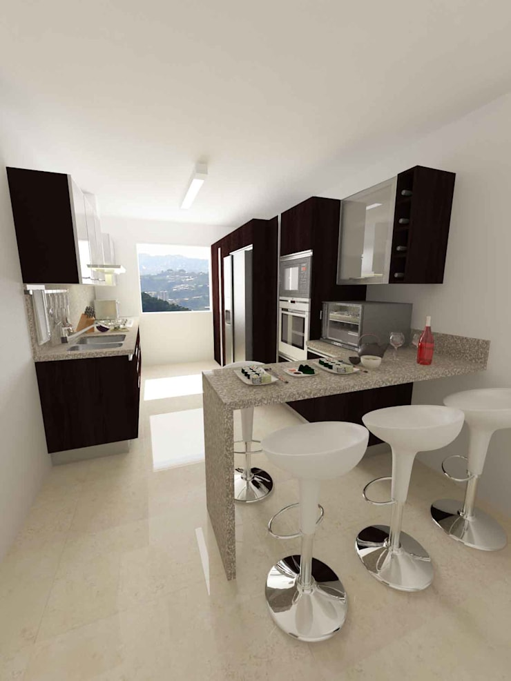 Kitchen by OPFA Diseños y Arquitectura