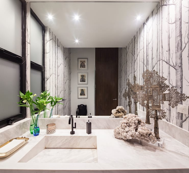 Baños de estilo  por WRKSHP arquitectura/urbanismo