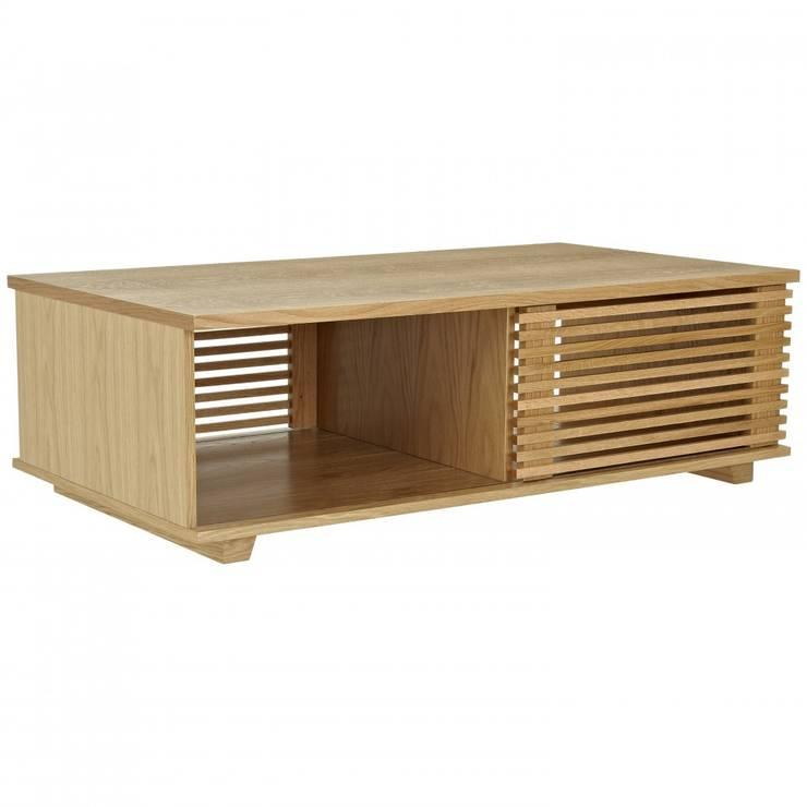 Oryginalny stolik kawowy Putney - przesuwne drzwiczki: styl , w kategorii Salon zaprojektowany przez onemarket.pl