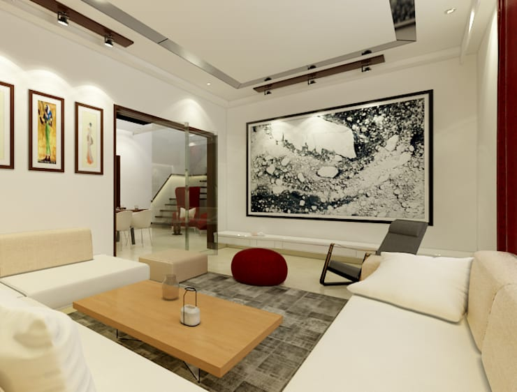 Living room by Space Interface, Modern
