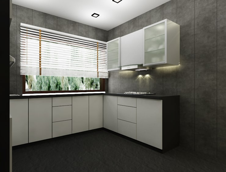 Suneja Residence:  Kitchen by Space Interface