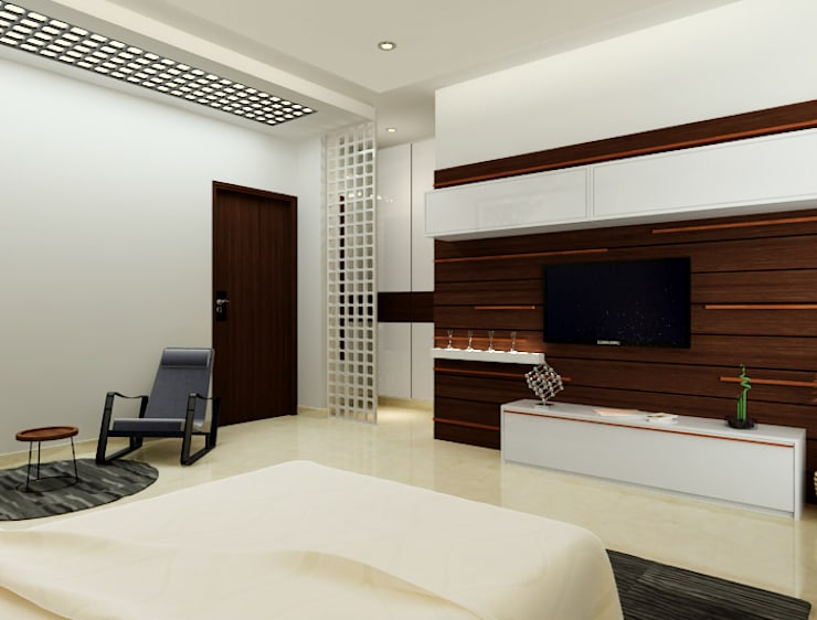 Bedroom by Space Interface, Modern