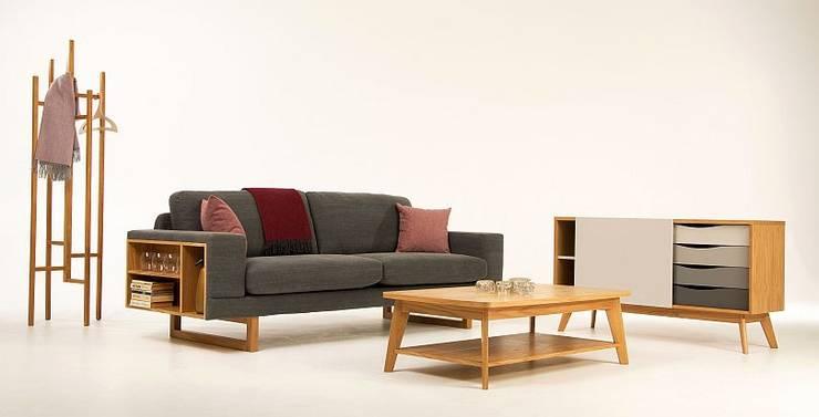 Zestaw mebli do salonu Libreria&Avon: styl , w kategorii  zaprojektowany przez onemarket.pl,Skandynawski Drewno O efekcie drewna