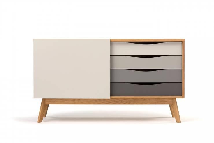 Nowoczesna komoda Avon: styl , w kategorii  zaprojektowany przez onemarket.pl,Skandynawski Drewno O efekcie drewna