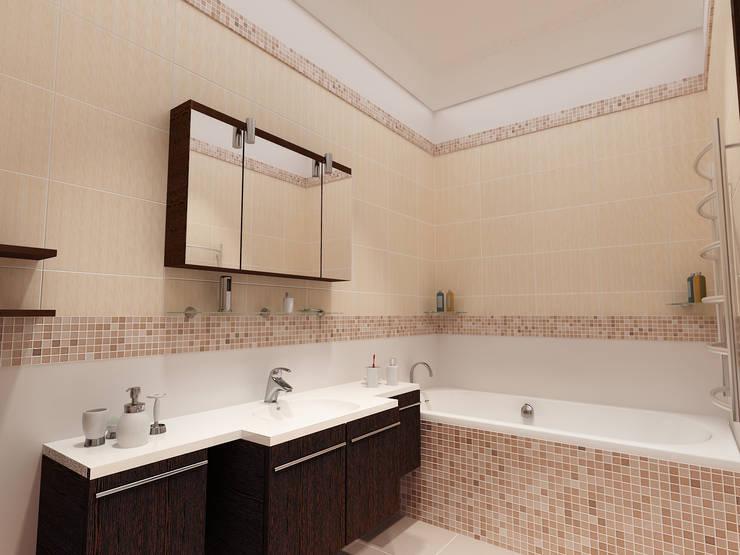Перепланировка из двушки в трешку: Ванные комнаты в . Автор – Скулков Павел