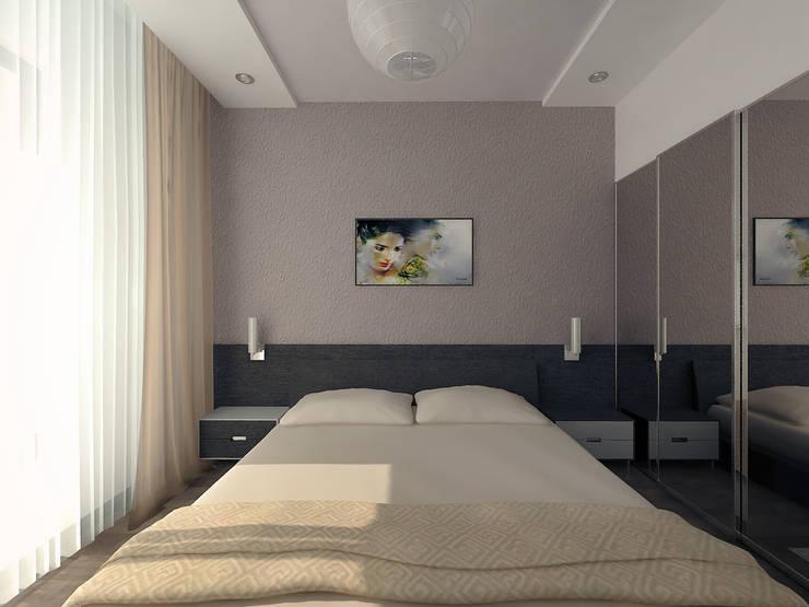 Перепланировка из двушки в трешку: Спальни в . Автор – Скулков Павел