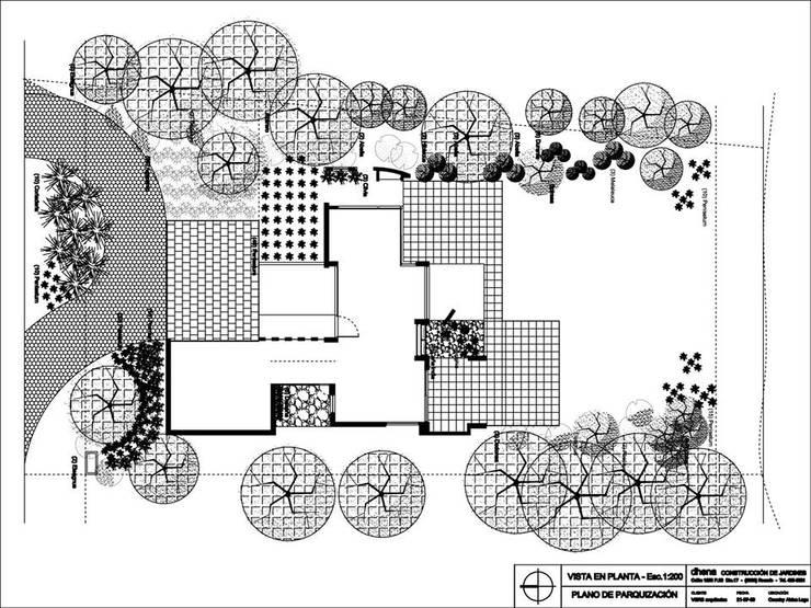Anteproyecto Jardín Ferrarons:  de estilo  por Dhena CONSTRUCCION DE JARDINES