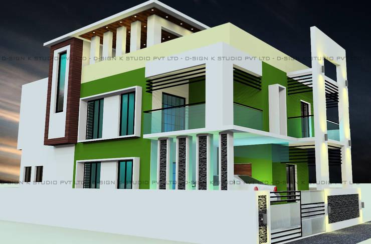Residential Design & Development for Ms.Jannath Bee Mohammed Khan:  Houses by D-SiGN KSTUDIO™ PVT LTD ARCHITECTS + INTERIORS + LANDSCAPING