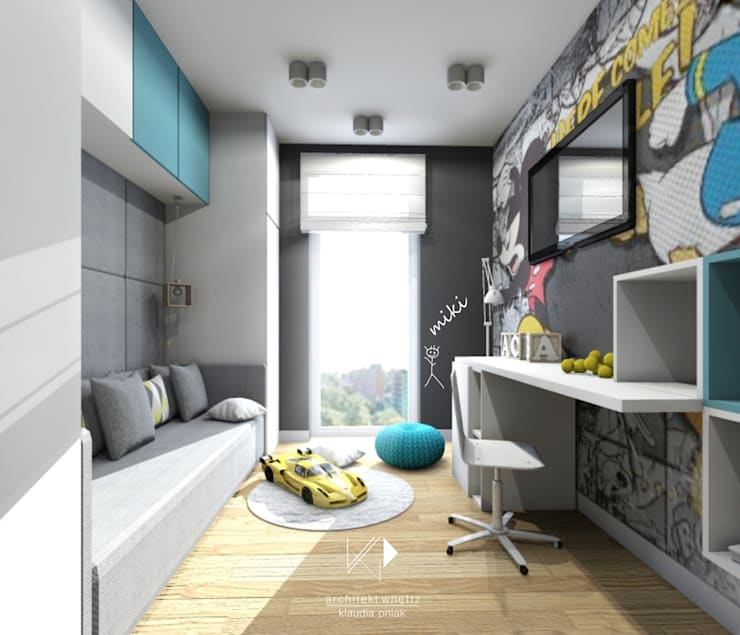 Pokój dziecięcy : styl , w kategorii Pokój dziecięcy zaprojektowany przez Architekt wnętrz Klaudia Pniak