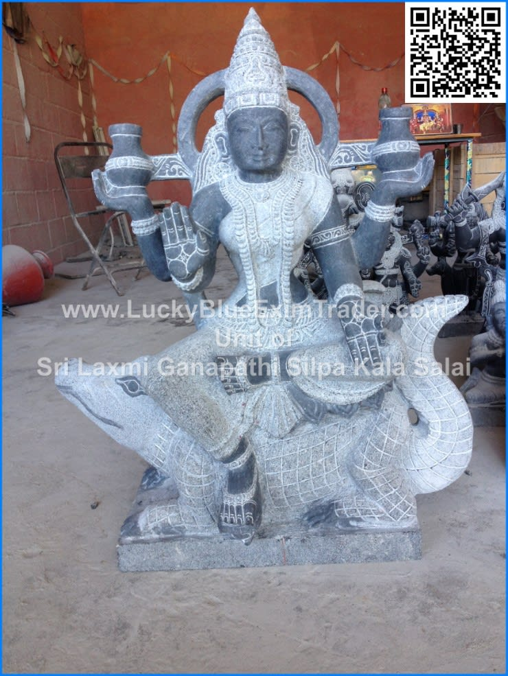 Goddess Ganga Devi:  Artwork by LuckyBlue Exim Trader Private Limited