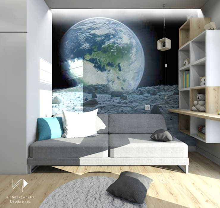 Pokój dziecięcy : styl , w kategorii Okna zaprojektowany przez Architekt wnętrz Klaudia Pniak