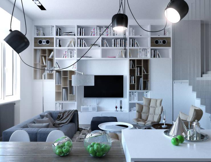 woonkamer door one studio
