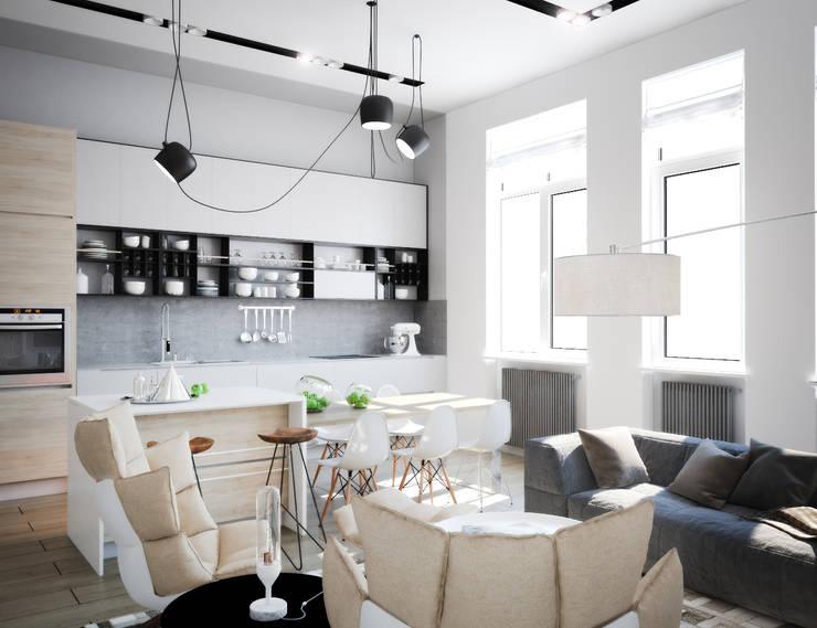 APARTAMENT/4: Кухни в . Автор – ONE STUDIO