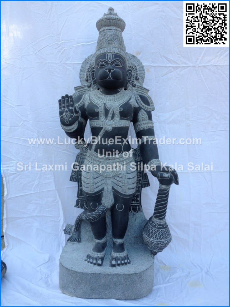 God Hanuman Statue to Munich, German:  Artwork by LuckyBlue Exim Trader Private Limited