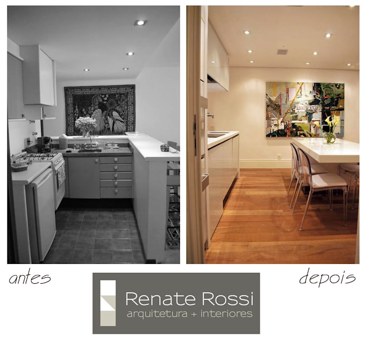 Cozinha Americana:   por Renate Rossi Arquitetura + Interiores,