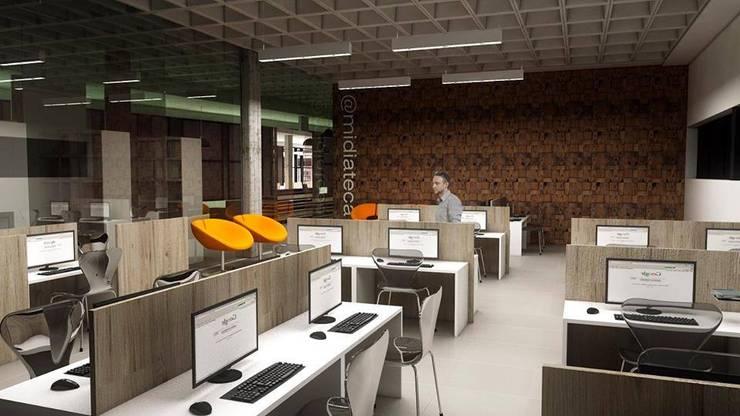 Biblioteca Pública: Edifícios comerciais  por Cíntia Schirmer | Estúdio de Arquitetura e Urbanismo