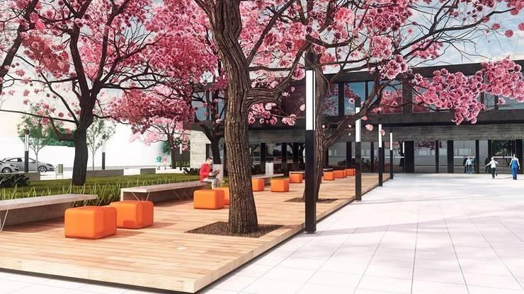 Biblioteca Pública: Espaços comerciais  por Cíntia Schirmer   arquiteta e urbanista,