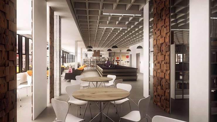 Biblioteca Pública: Edifícios comerciais  por Cíntia Schirmer   arquiteta e urbanista,