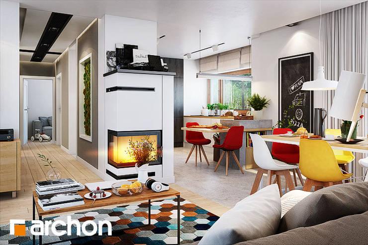wnętrze Domu w Galach: styl , w kategorii Salon zaprojektowany przez ArchonHome.pl,Nowoczesny