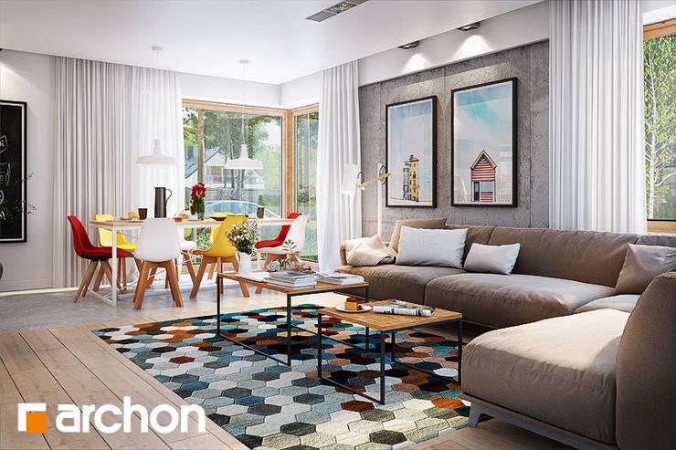 wnętrze Domu w Galach: styl , w kategorii  zaprojektowany przez ArchonHome.pl,Nowoczesny