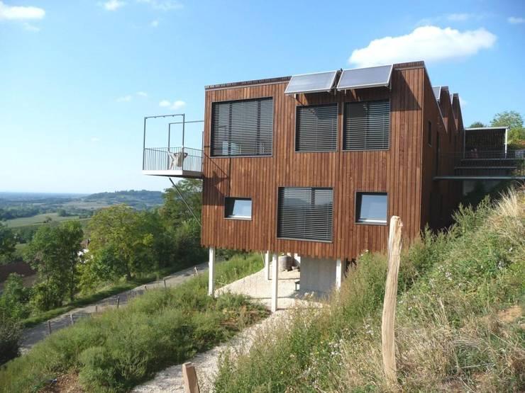 Façade sud: Maisons de style de style Moderne par Thierry Marco Architecture