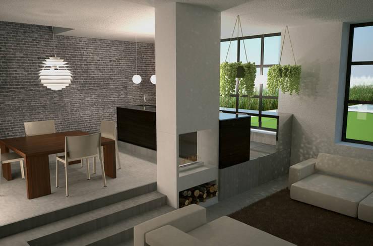 Vista interna: Cucina in stile  di a10studioarchitettura