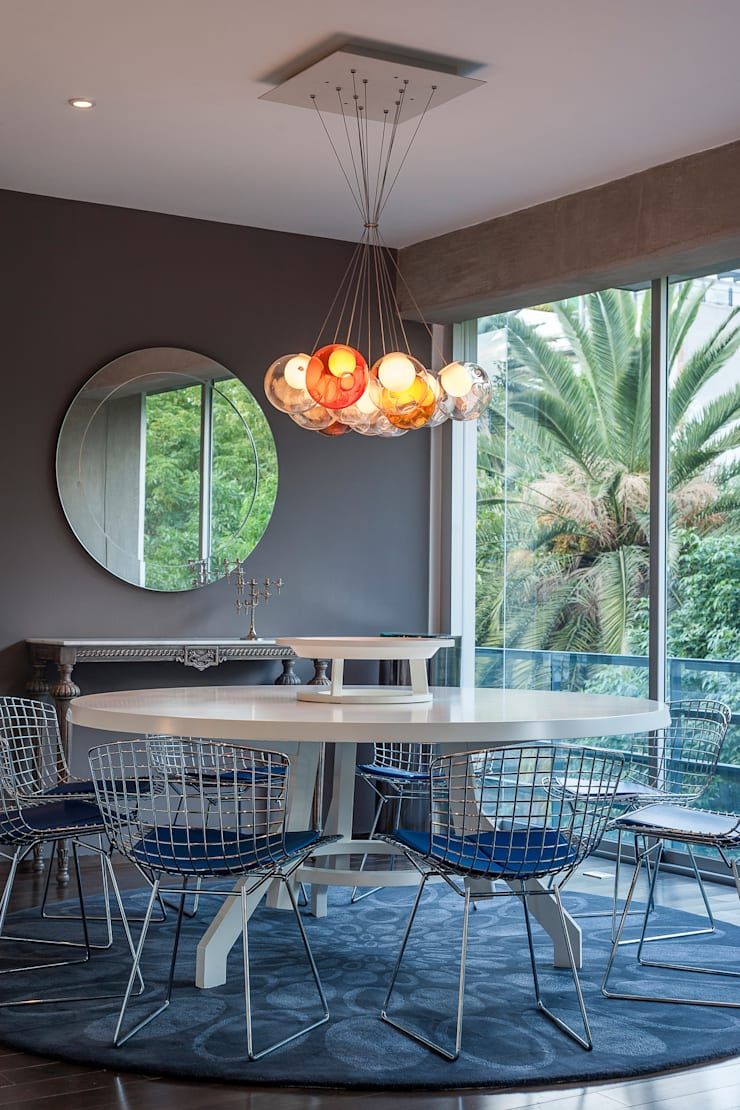 Departamento en La Condesa: Comedores de estilo  por MAAD arquitectura y diseño