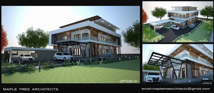 Villa at Mico Layout Bangalore:  Houses by MAPLE TREE