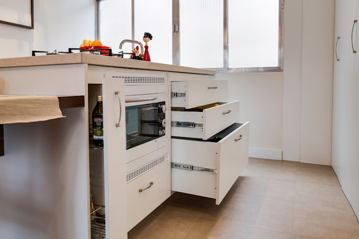 SDB | Cozinha: Cozinhas modernas por Kali Arquitetura