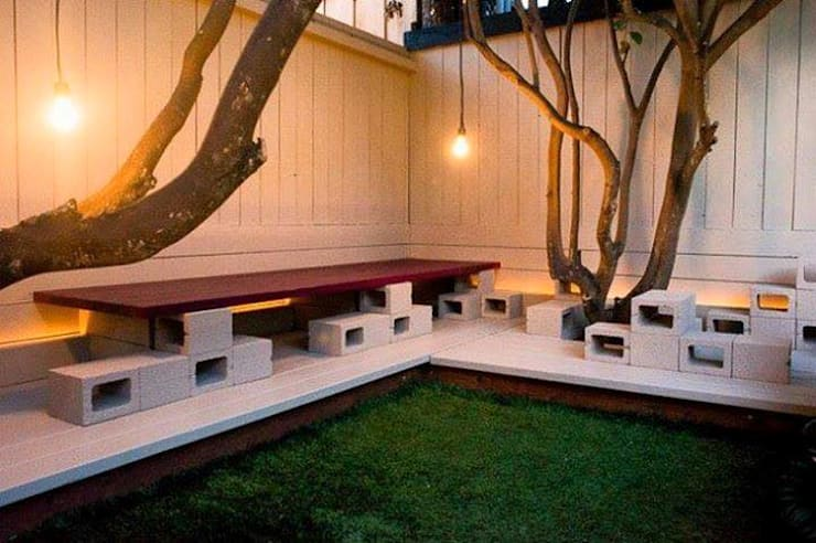 Jardín de estilo  por Jara y Olmo S.L