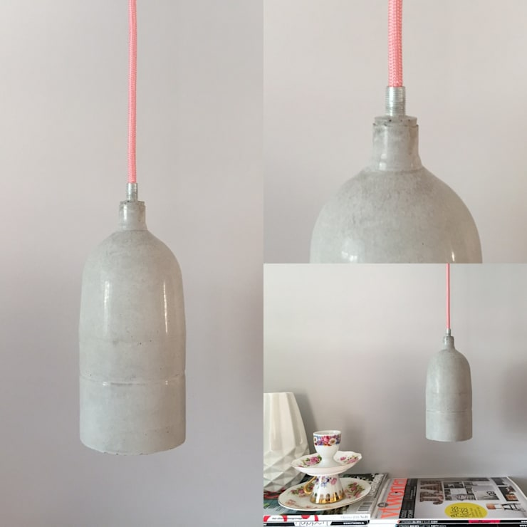 Hanglamp Pepper Beton & Handgemaakt: modern  door byCoco Designstudio, Modern