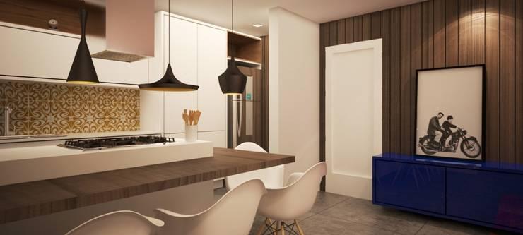 Apartamento BW Cozinhas modernas por Sieli Haynosz / Arquitetura + Interiores Moderno