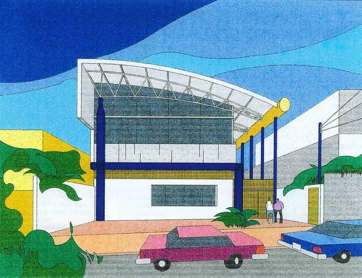 Perspectiva: Locais de eventos  por Douglas Piccolo Arquitetura e Planejamento Visual LTDA.