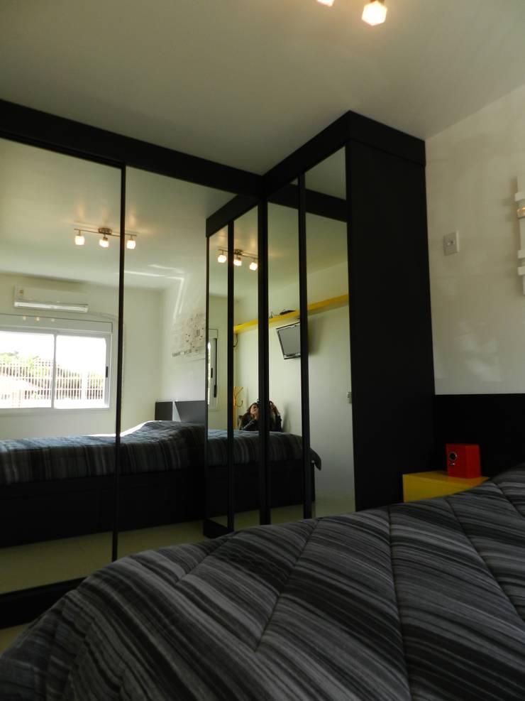 dormitório jovem: Quartos  por ANE DE CONTO  arq. + interiores,