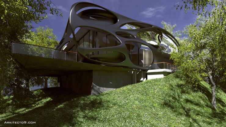 Oficinas: Casas de estilo  por arquitecto9.com