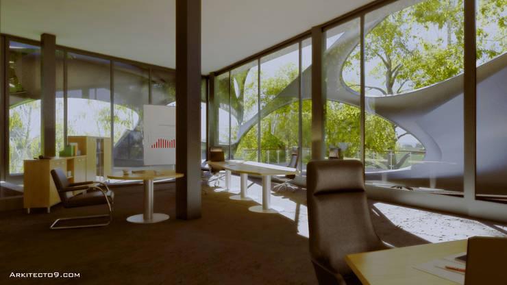 Oficinas: Estudios y oficinas de estilo  por arquitecto9.com